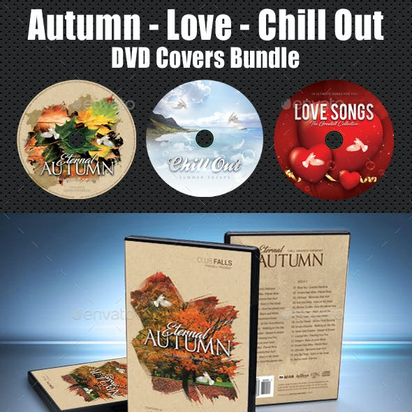 Autumn - Love - Chill Out DVD Covers Bundle