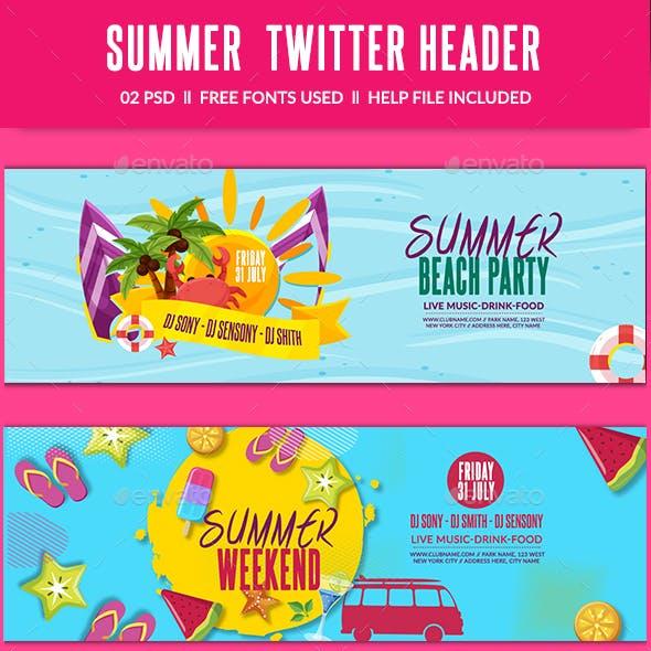 Summer Twitter Header