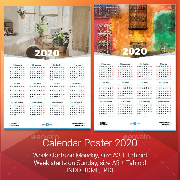 2020 Calendar Poster
