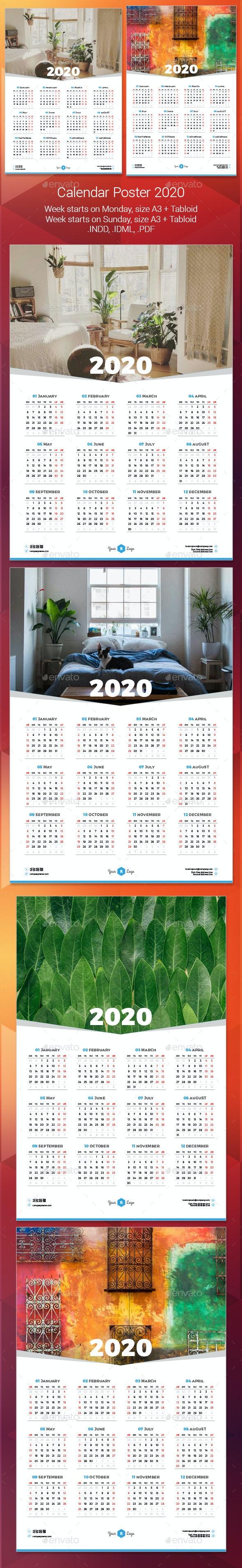2020 Calendar Poster - Calendars Stationery