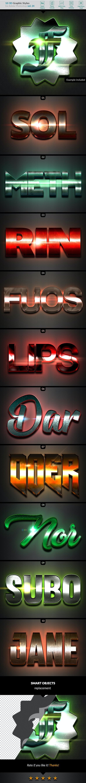 10 3D Styles vol. 24 - Styles Photoshop