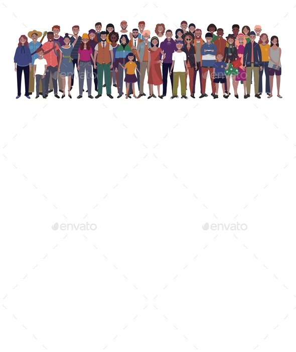 Multinational Group of People - People Characters