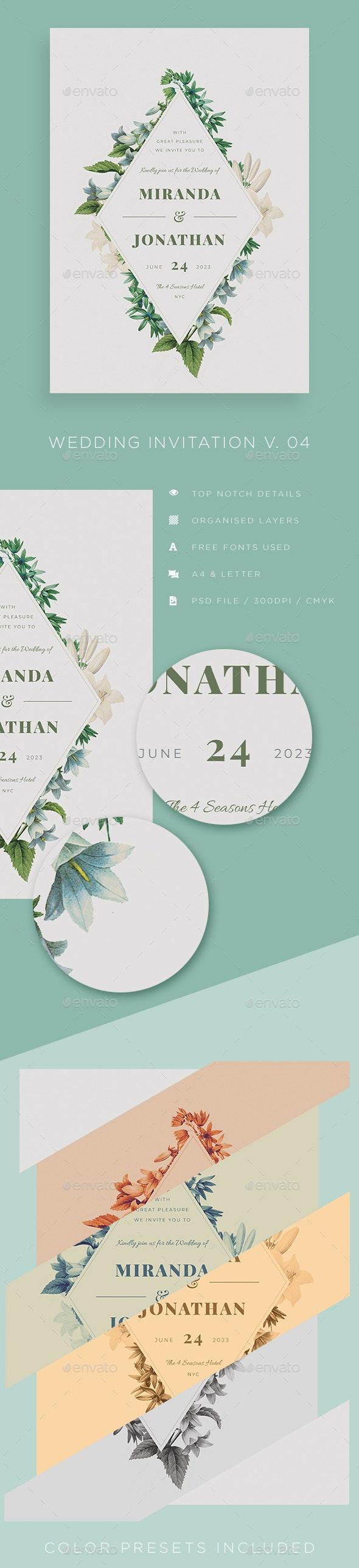 Wedding Invitation V04 - Weddings Cards & Invites