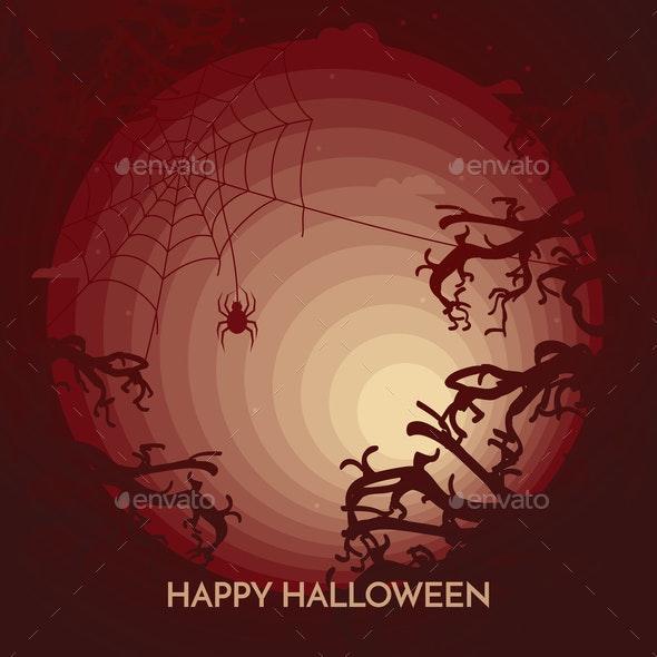 Haunted Happy Halloween Banner - Halloween Seasons/Holidays