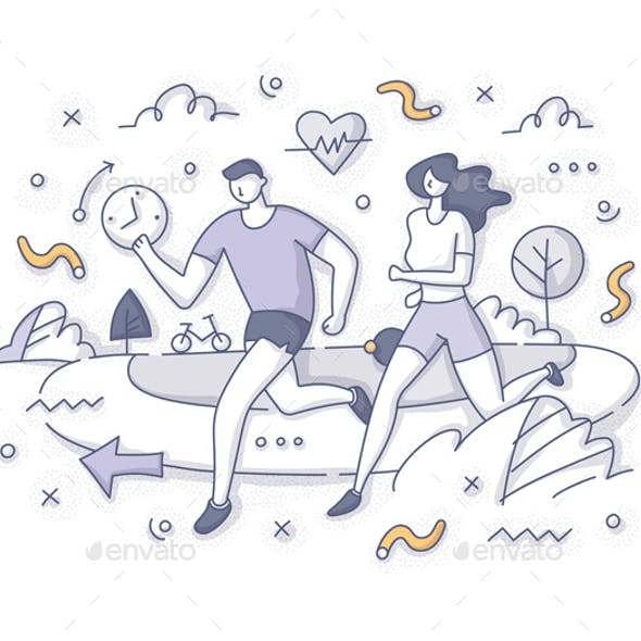 Running Together Outdoor Concept