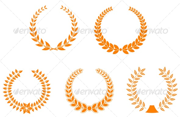 Set of laurel wreaths - Decorative Vectors