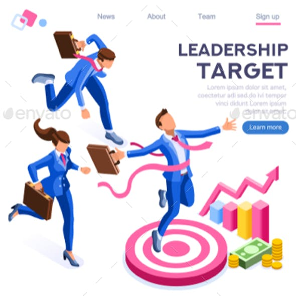 Target Foward Leadership Concept