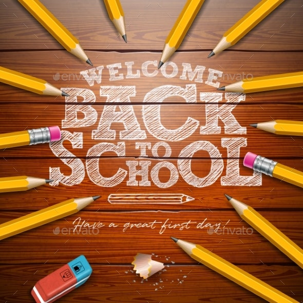 Back to School Design with Graphite Pencil - Miscellaneous Vectors