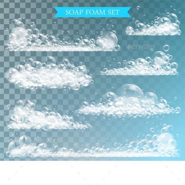 Soap Foam with Bubbles