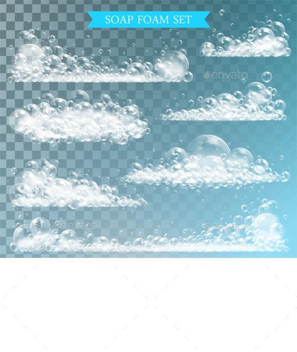 Soap Foam with Bubbles - Miscellaneous Vectors