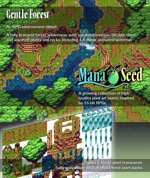 Gentle Forest - Pixel Art Asset - Tilesets Game Assets