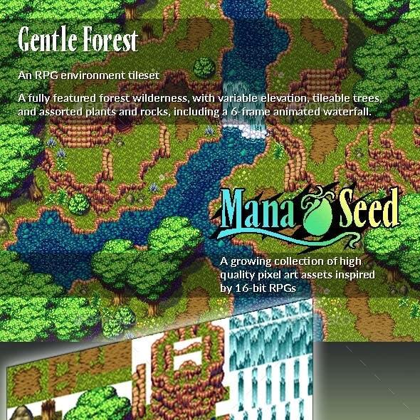 Gentle Forest - Pixel Art Asset