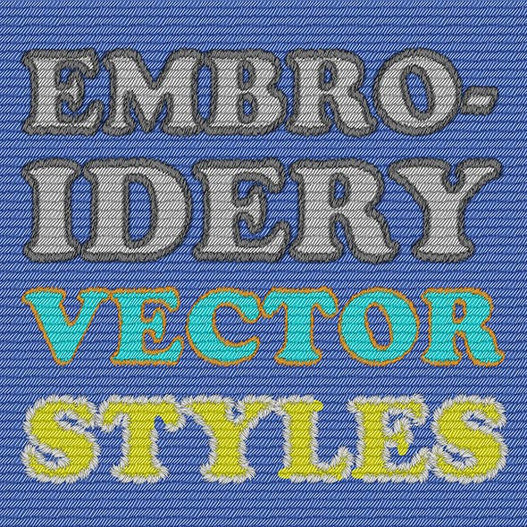 Vector Embroidery Illustrator Graphic Styles