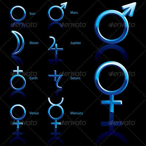 Symbol, planet - Concepts Business