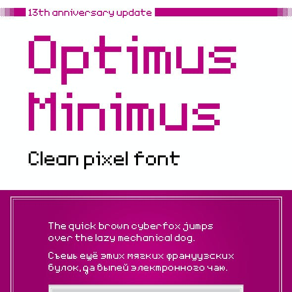 TGE Optimus Minimus Clean Pixel Font