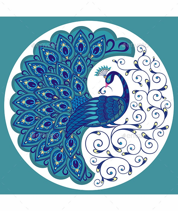 Peacock Bird - Animals Characters