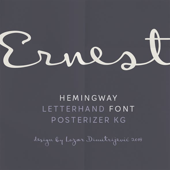 Ernest Hemingway's handwriting font!