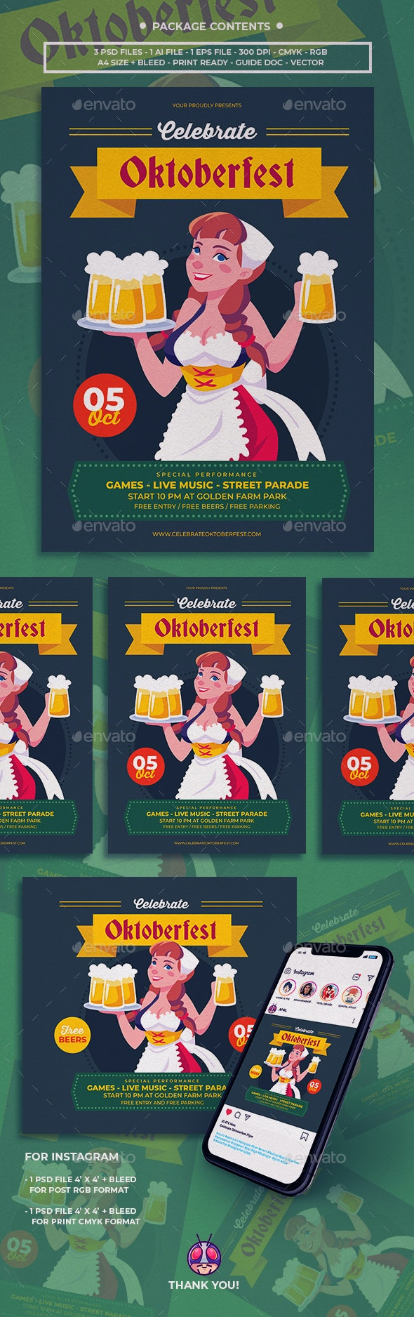 Celebrate Oktoberfest Flyer - Anniversary Greeting Cards