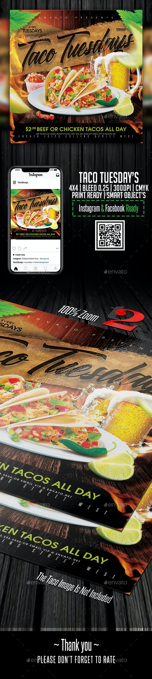Taco Tuesday Flyer Template - Restaurant Flyers