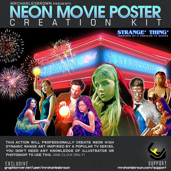 Neon Movie Poster Kit