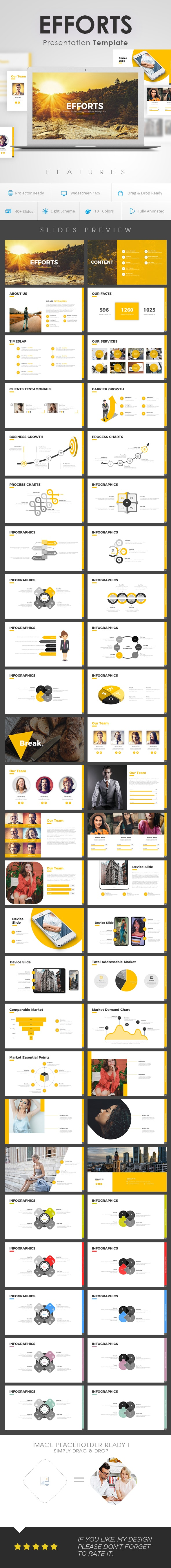 Efforts Power Point Presentation Template - Business PowerPoint Templates