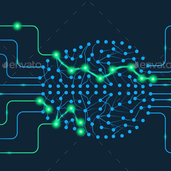 Artificial Intelligence Design Concept