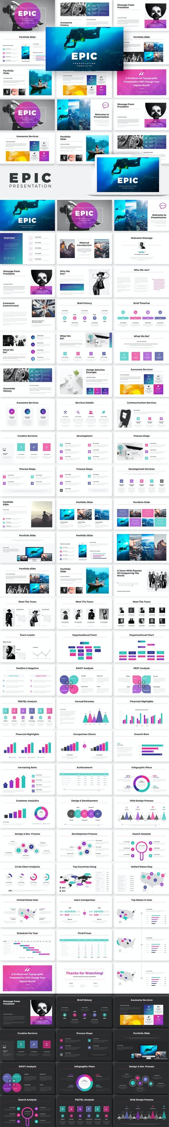 Epic Google Slides Template - Google Slides Presentation Templates