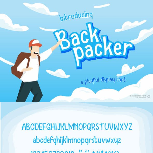 Backpacker - Fun Display Font