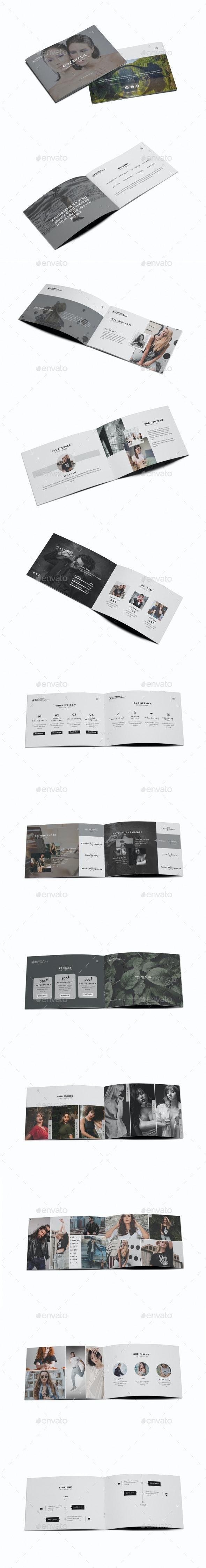 Mozarelic Photography A5 Brochure - Brochures Print Templates