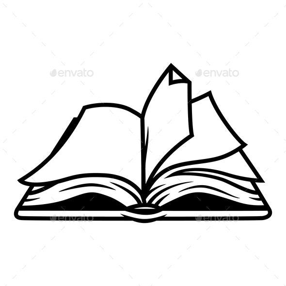 Vintage Open Book Concept - Miscellaneous Vectors