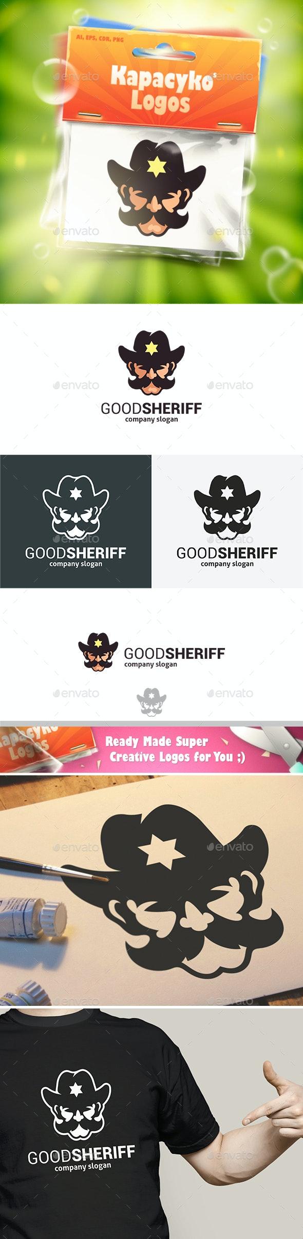 Good Sheriff Mustache Logo - Humans Logo Templates