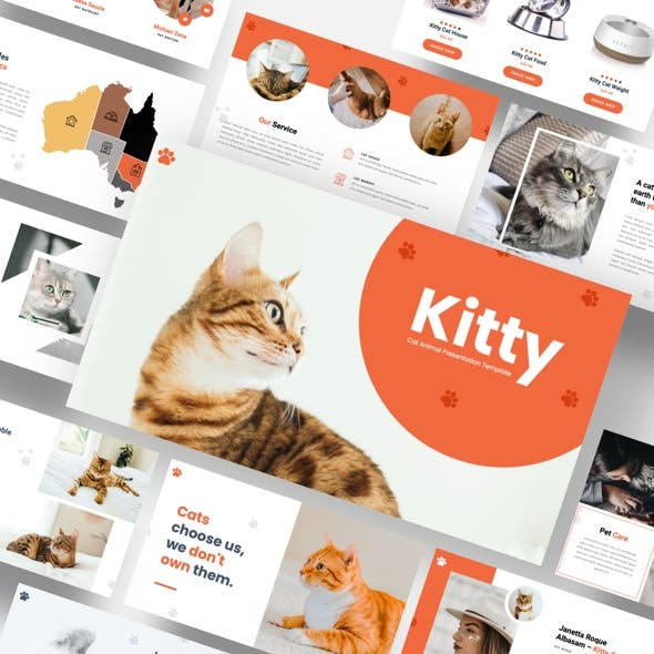 Kitty - Cat Animal Google Slides Template