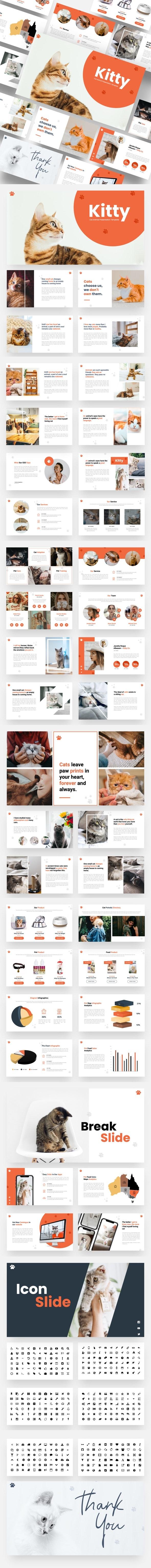 Kitty - Cat Animal Google Slides Template - Google Slides Presentation Templates