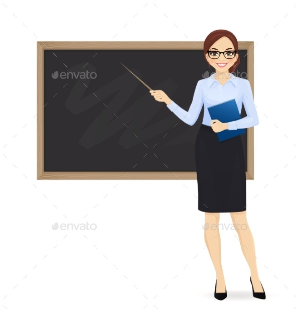 Teacher at Blackboard - Miscellaneous Vectors