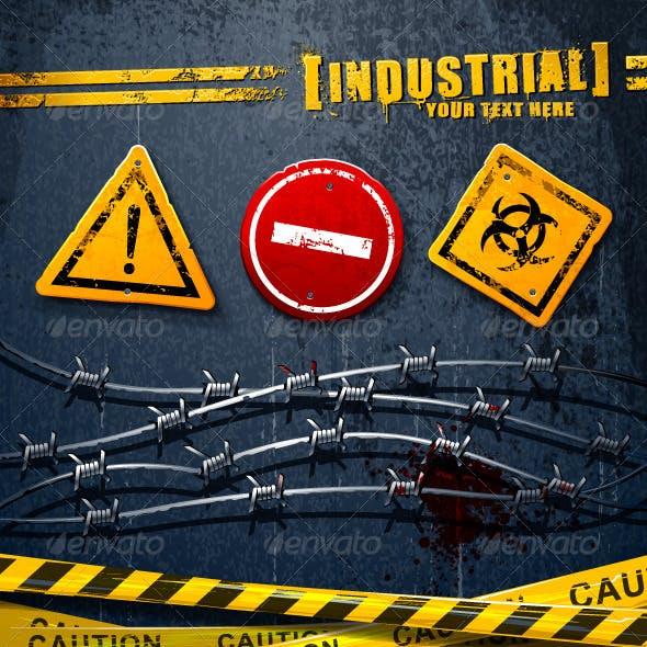 Industrial grunge elements