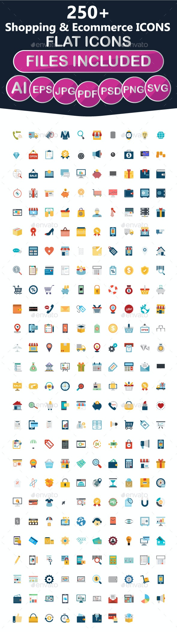 250+ Shopping Icons - Business Icons