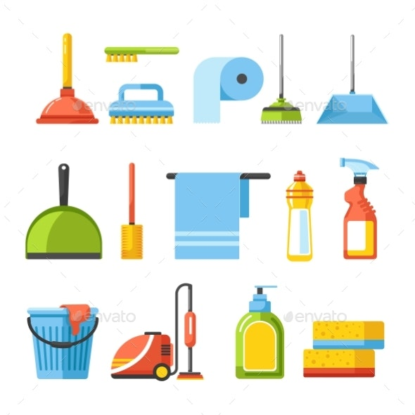 Cleaning Tools Isolated Icons Brushes - Man-made Objects Objects