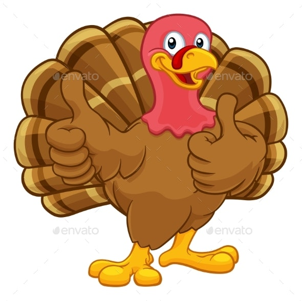 Christmas Cartoon Images.Turkey Thanksgiving Or Christmas Cartoon Character