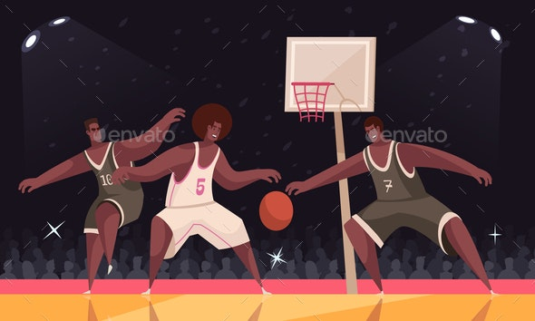 Basketball Match Sport Composition - Sports/Activity Conceptual