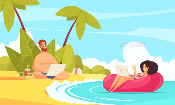 Freelance Holiday Cartoon Composition - Miscellaneous Vectors