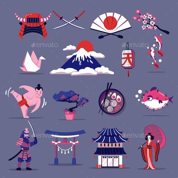 Japan Travel Set - Buildings Objects