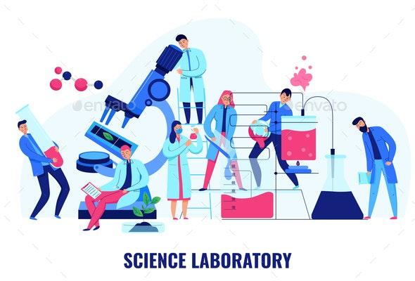 Science Laboratory Illustration - Miscellaneous Vectors
