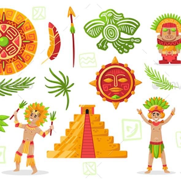 Maya Culture Doodle Set