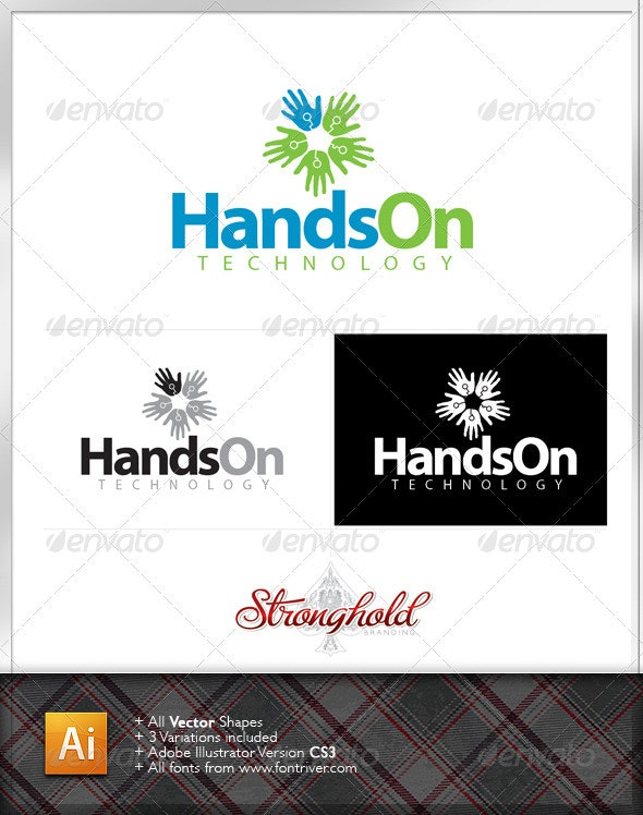 Technology Logo Template - Humans Logo Templates