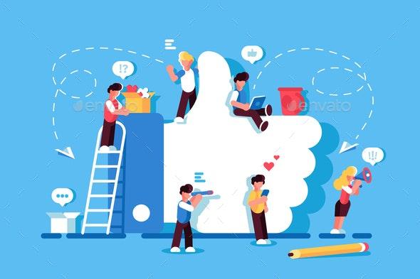 Like Symbol Social Media - Media Technology