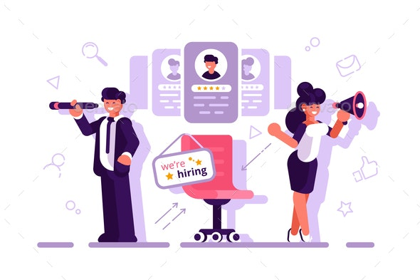 We are Hiring - People Characters