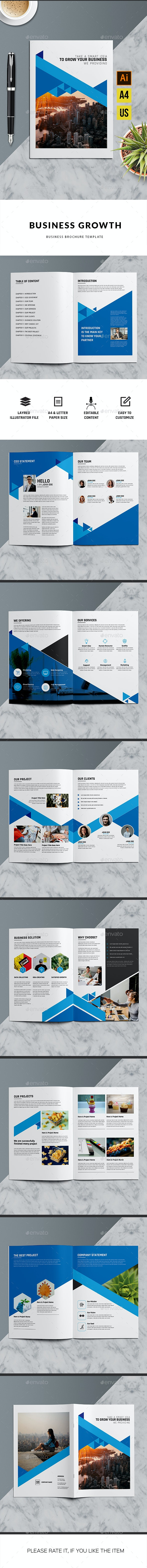 Business Growth | Illustrator Template - Corporate Brochures