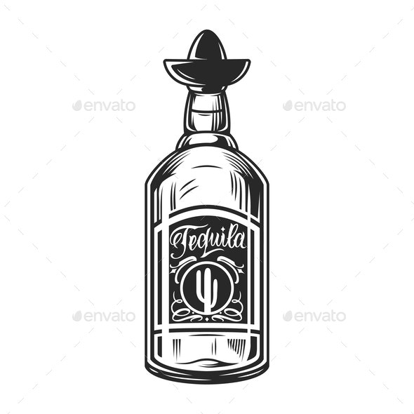 Bottle of Tequila Concept - Miscellaneous Vectors