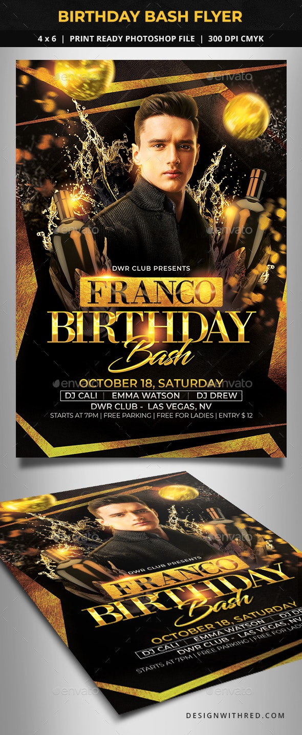 Birthday Bash Flyer - Clubs & Parties Events