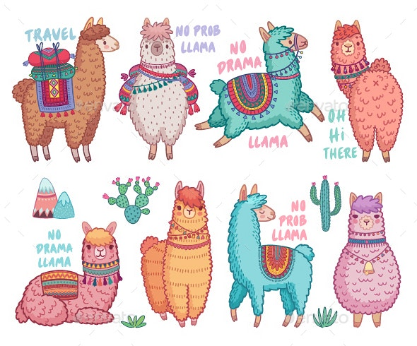 Lamas With Quotes. - Animals Characters